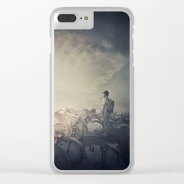 Time Trash Clear iPhone Case
