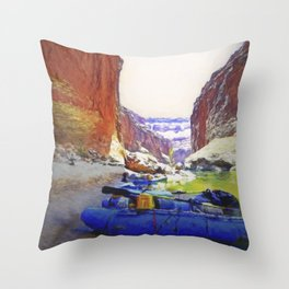 Rafting Rest Area Throw Pillow