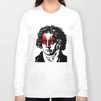 beethoven Long Sleeve T-shirts featuring Beethoven Rock by futbolko
