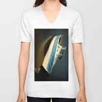 boat V-neck T-shirts featuring boat by habish