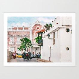 Street Scene, Cartagena Art Print