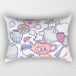 Tea and cookies Rectangular Pillow