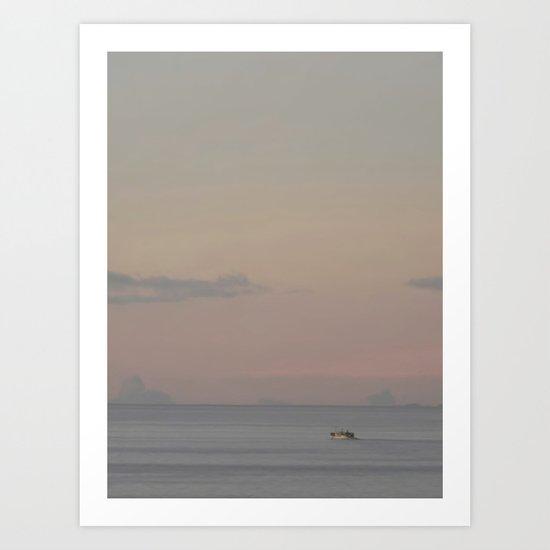 Guada sunset Art Print