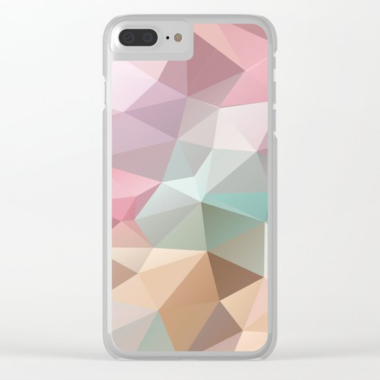 Abstract triangles polygonal pattern Clear iPhone Case