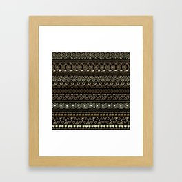 Ethnic tribal Pattern Framed Art Print