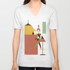 Mini Bar Unisex V-Neck