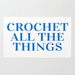 Crochet All the Things in Blue Rug