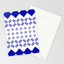 Scandinavian blue pattern Stationery Cards