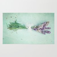 lavender Area & Throw Rugs featuring lavender by Sylvia Cook Photography