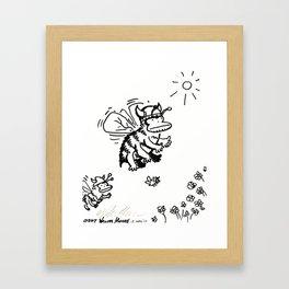 Vanguard of the Viking Ape-Bee Raiding Party Framed Art Print