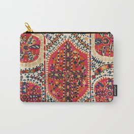 Large Medallion Suzani Print Carry-All Pouch