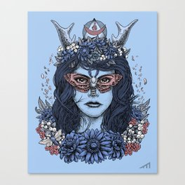 Freyja (Blue Variant) Canvas Print