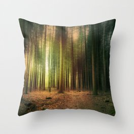 Sunny Forest II Throw Pillow