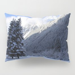 Alpine Winterscene Pillow Sham