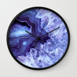 Periwinkle Blue Quartz Crystal Wall Clock