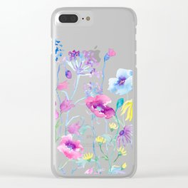 Watercolor Field of Pastel Clear iPhone Case