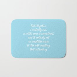 Obligation Bath Mat