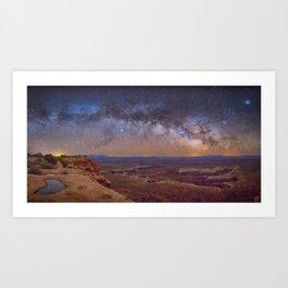 Nightscape Arches National Park Panorama Utah Art Print