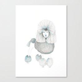Weird poodles - Lady boy Canvas Print