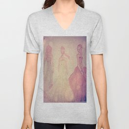 romantic girls Unisex V-Neck