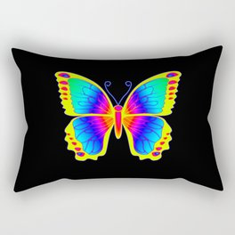 Psychedelic Butterfly Rectangular Pillow