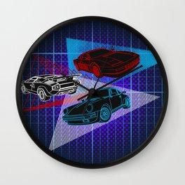 80s Supercars Wall Clock