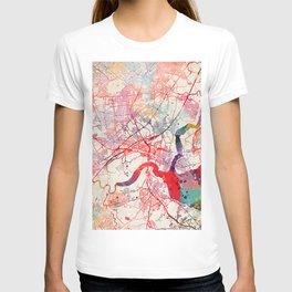 Woodbridge map New Jersey painting T-shirt