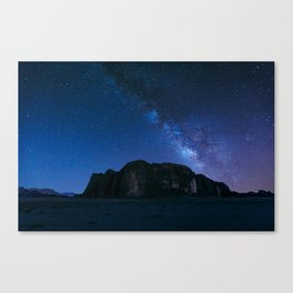 Milky Way Over Wadi Rum Canvas Print