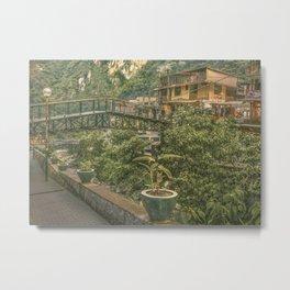 Aguas Calientes Town , Cusco - Peru Metal Print