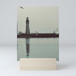 """lighthouse in Buffalo"" Photography by Willowcatdesigns Mini Art Print"