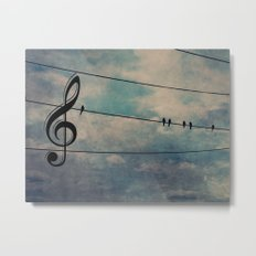 Nature's Choir Birds and Music A611 Metal Print