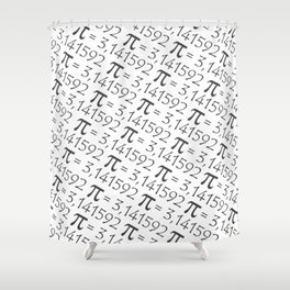 The Pi symbol mathematical constant irrational number, greek letter, pattern background center Shower Curtain