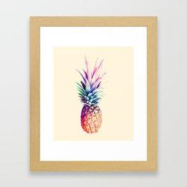 Mauve Pineapple Framed Art Print
