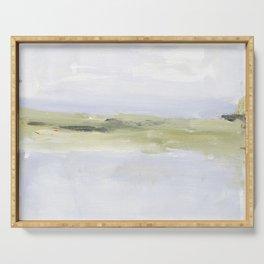 Painting of coastal, beach, ocean Serving Tray
