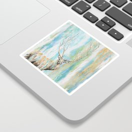 Deer Tree Sticker