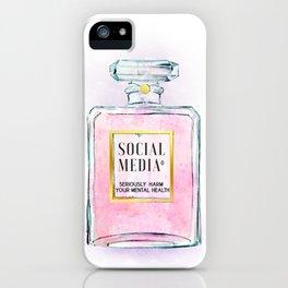 Eau de Social Media Seriously Harm Your Mental Health iPhone Case