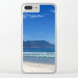 Table Mountain Cape Town Clear iPhone Case