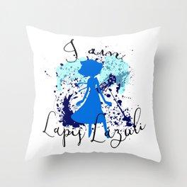 I am Lapis Lazuli Throw Pillow