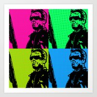 terminator Art Prints featuring Terminator by Bolin Cradley Art