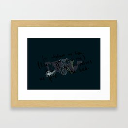 for whatever we lose... Framed Art Print