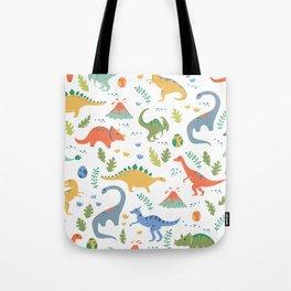Dinos + Volcanoes Tote Bag