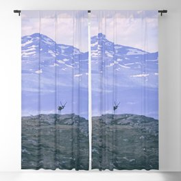 Reindeer in the mountains Blackout Curtain