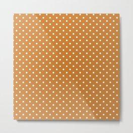 Dots (White/Bronze) Metal Print