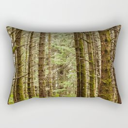 Old Growth Forest Photography Print Rectangular Pillow