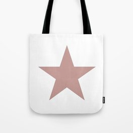 Ancient rose star on white Tote Bag
