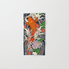 Art of Koi Fish Leggings Hand & Bath Towel