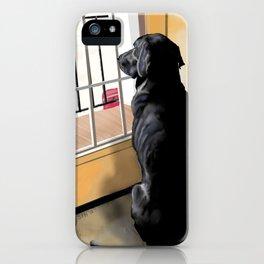 Black Lab Dog iPhone Case