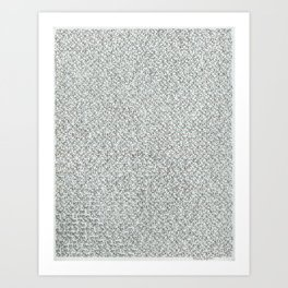 2,173 Pugs on Graph Paper Art Print