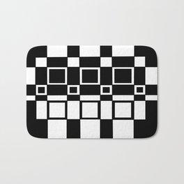 Chic Checkerboard Bath Mat