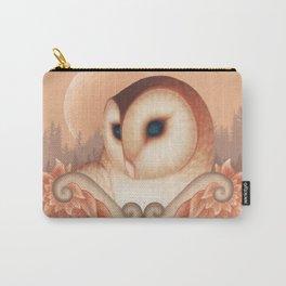 Peach Barn Owl Carry-All Pouch